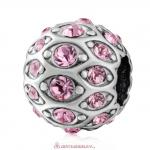 Pave Evil Eye Charm with Sparkling Pink Crystal