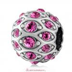 Pave Evil Eye Charm with Sparkling Rose Crystal