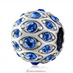 Pave Evil Eye Charm with Sparkling Sapphire Crystal