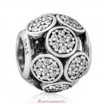 925 Sterling Silver Whimsical Lights Charm with White Zircon