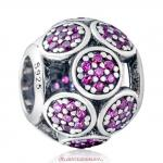 925 Sterling Silver Whimsical Lights Charm with Fuchsia Zircon