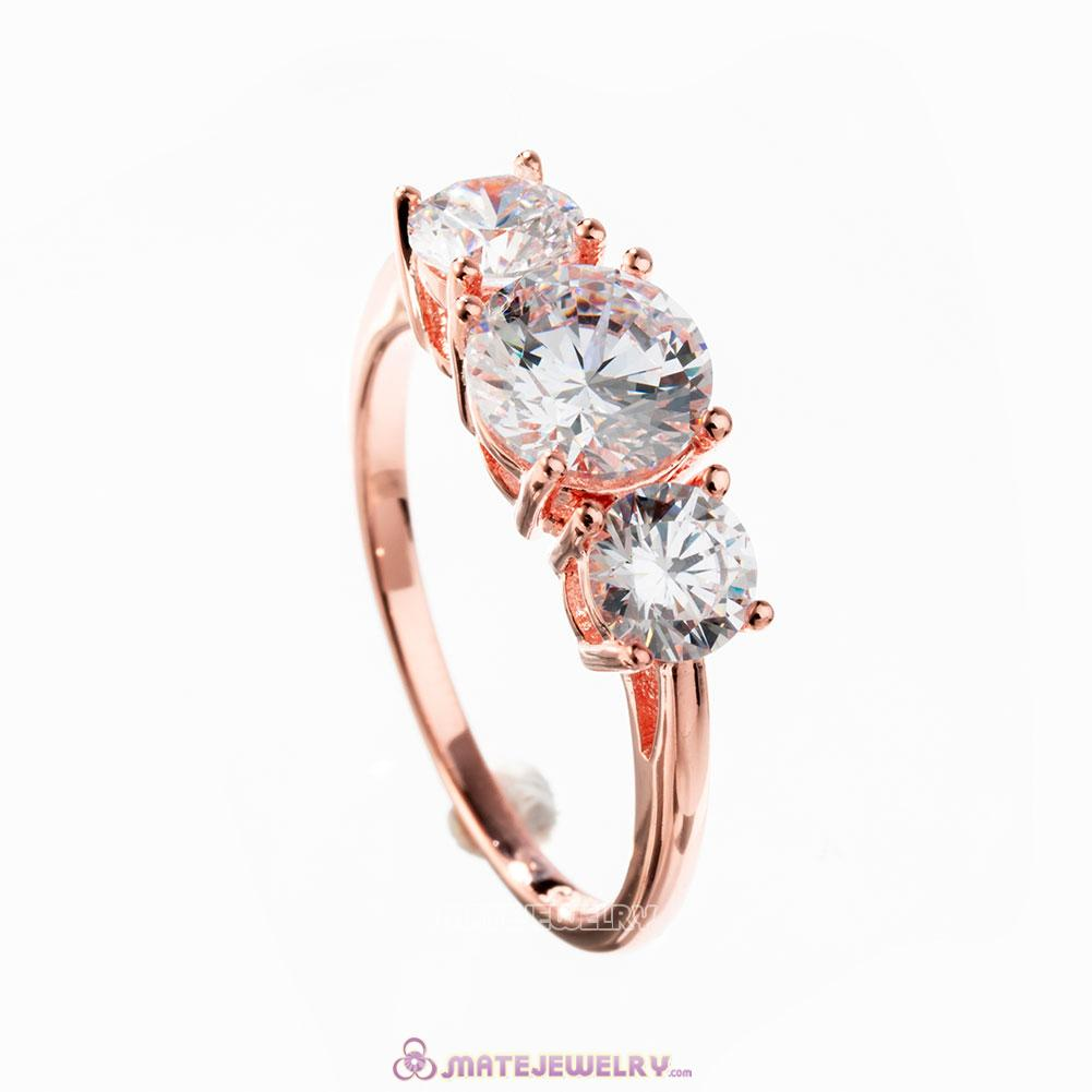 Sparkling Elegance Ring in Rose Gold